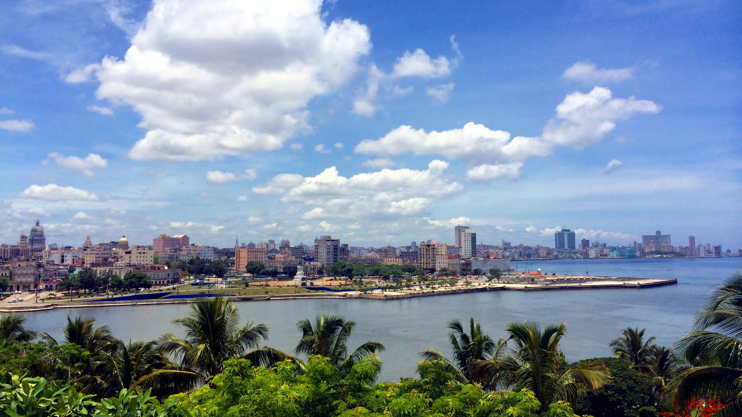 The skyline of Habana, Cuba.