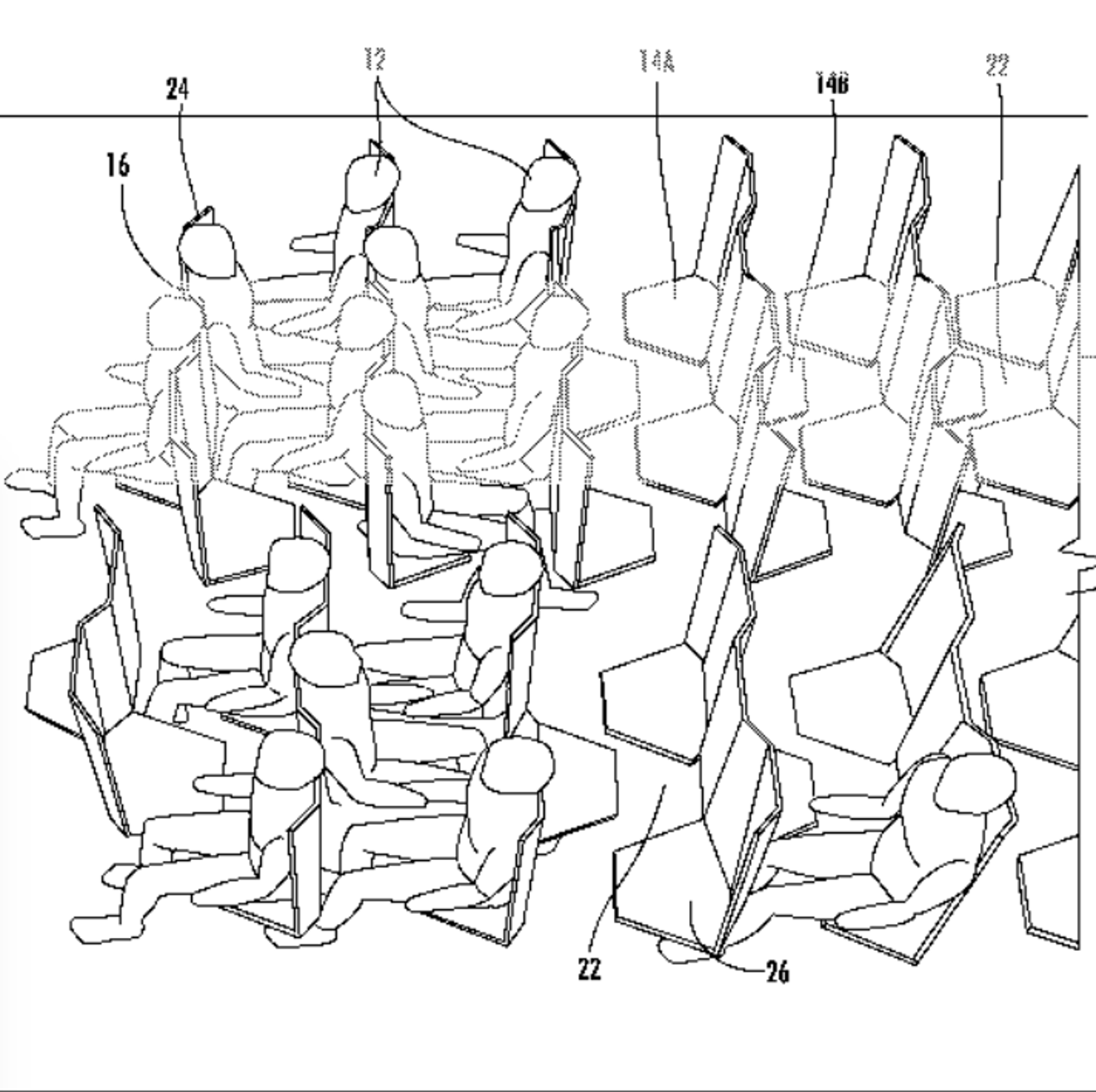 This Is The Most Comically Hellish Design For Airplane Seating Yet