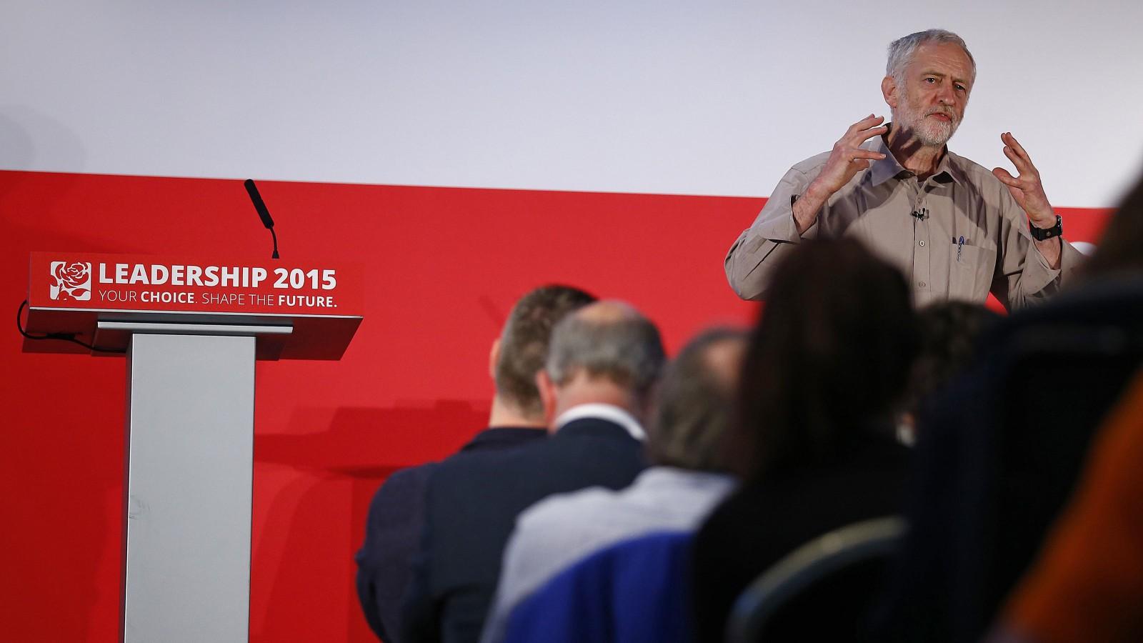 Candidate Jeremy Corbyn.