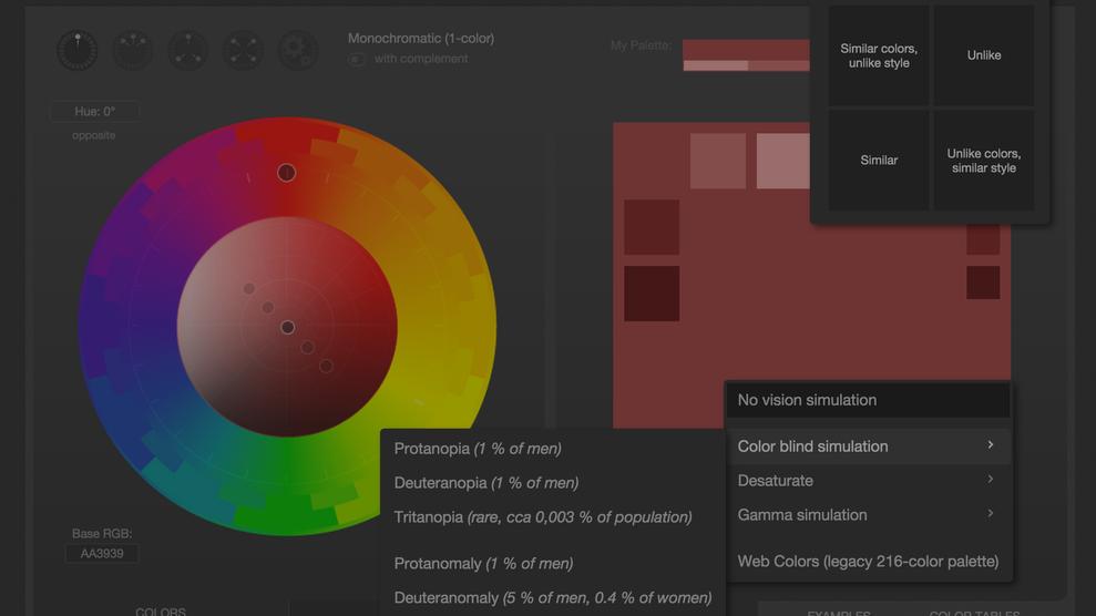 Designer color wheel