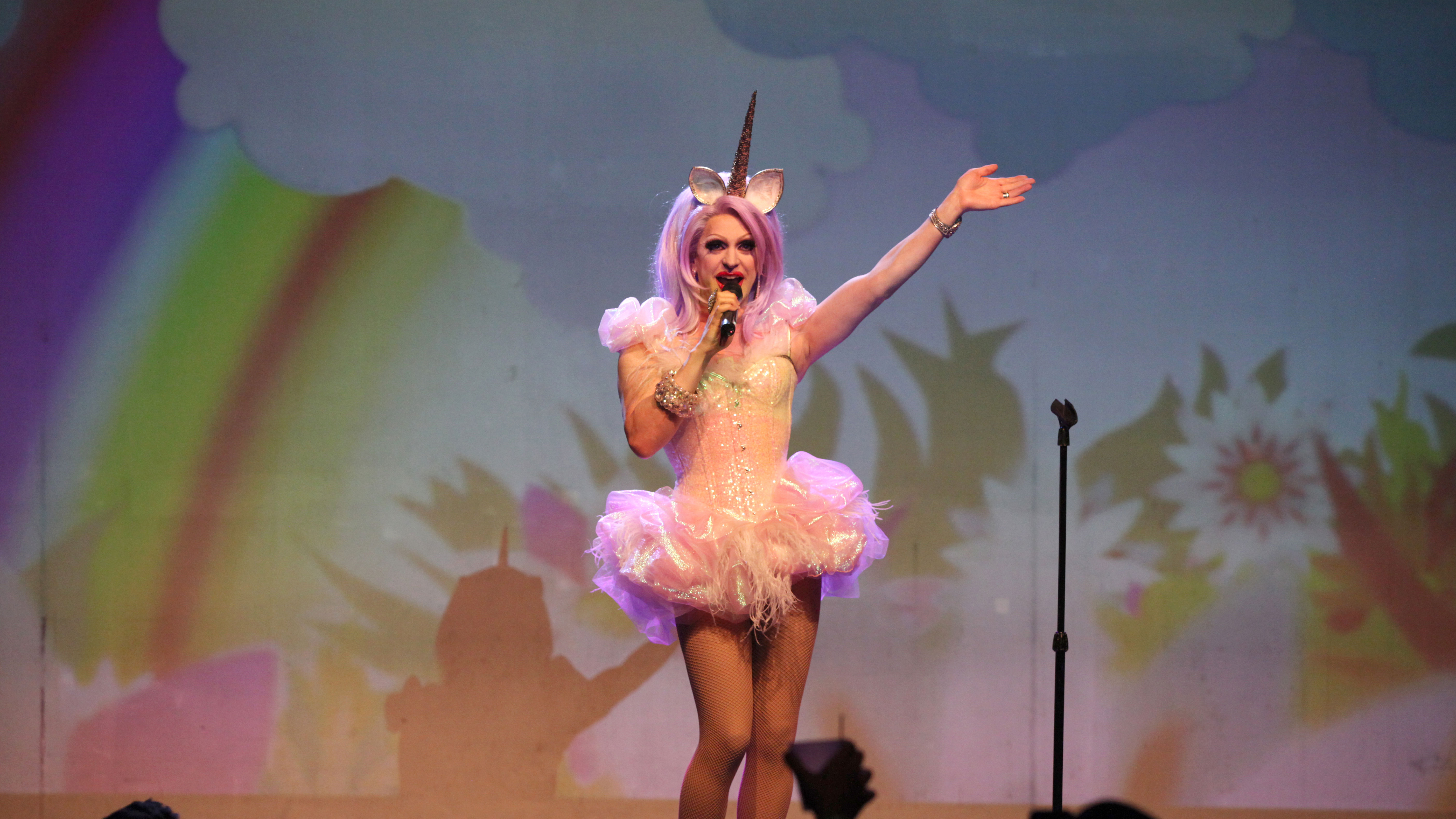 Pandora Boxx performing at Center Stage Theatre on Tuesday, Apr. 22, 2014, in Atlanta.