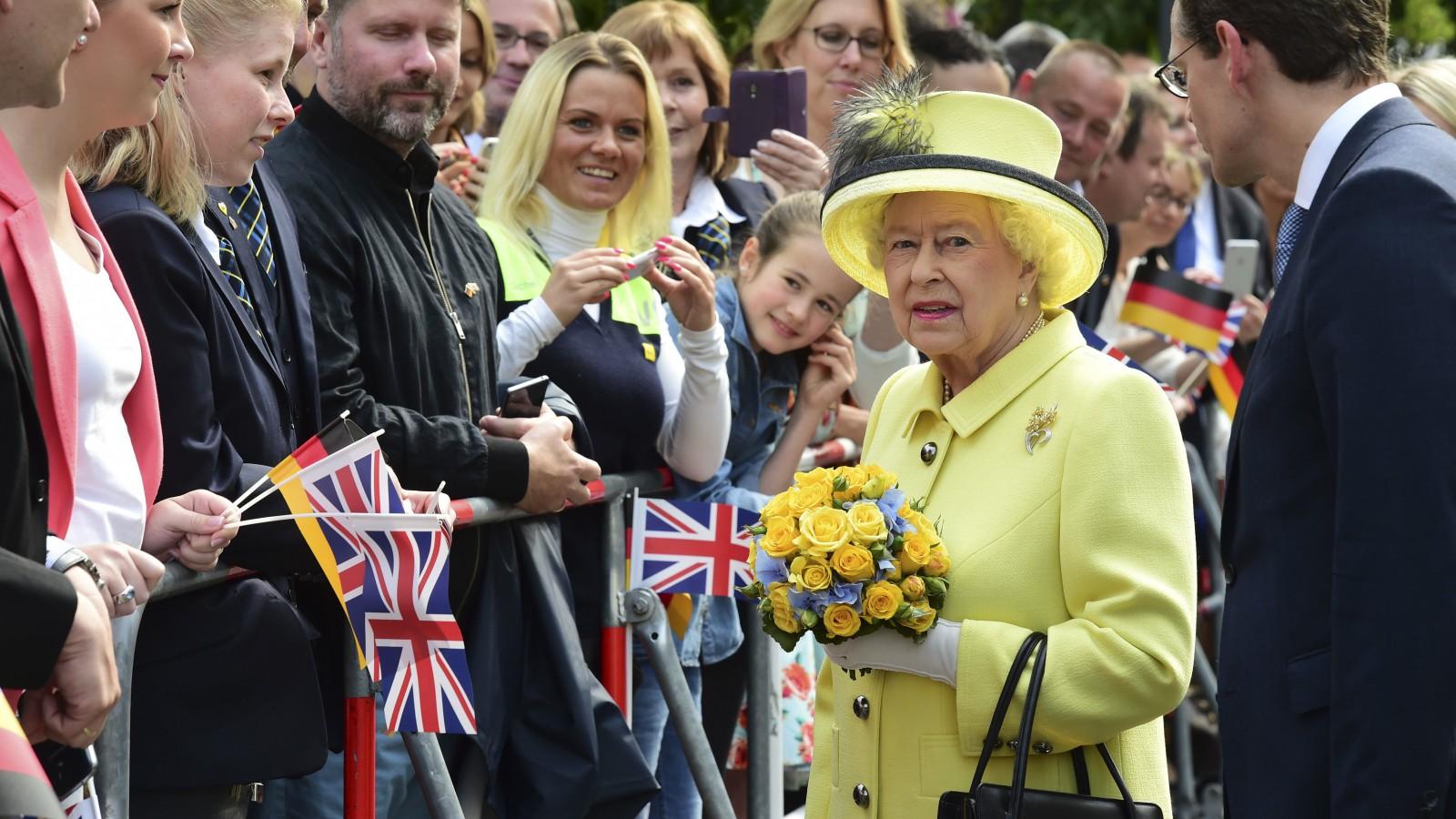 The UK Queen in Berlin.