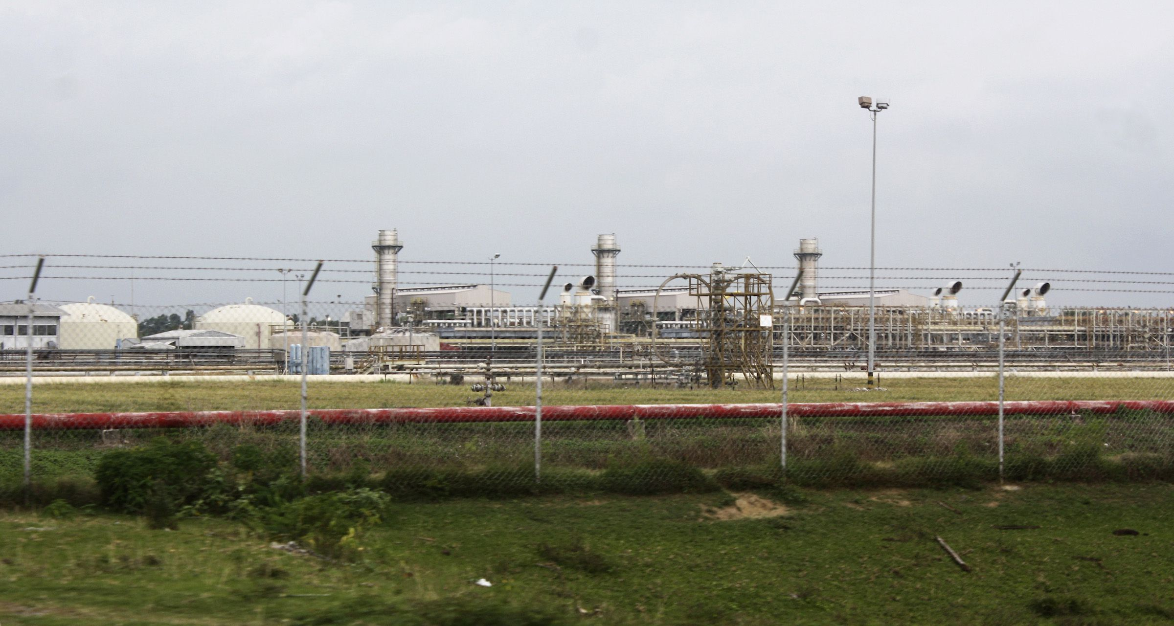 Oil refinery owned by ExxonMobil is seen in Lhokseumawe in Indonesia's Aceh province