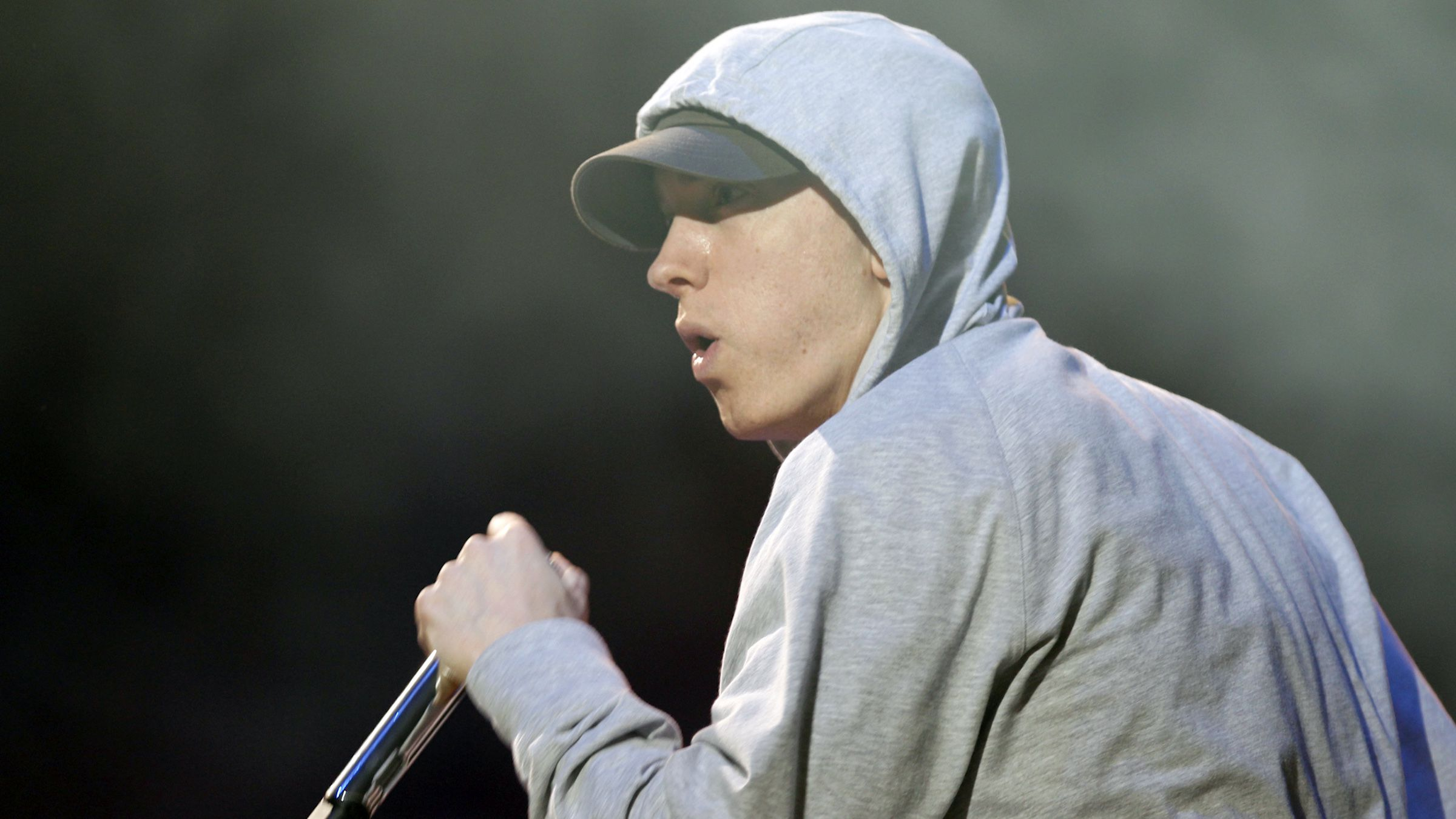 Eminem performing during the Abu Dhabi F1 Grand Prix