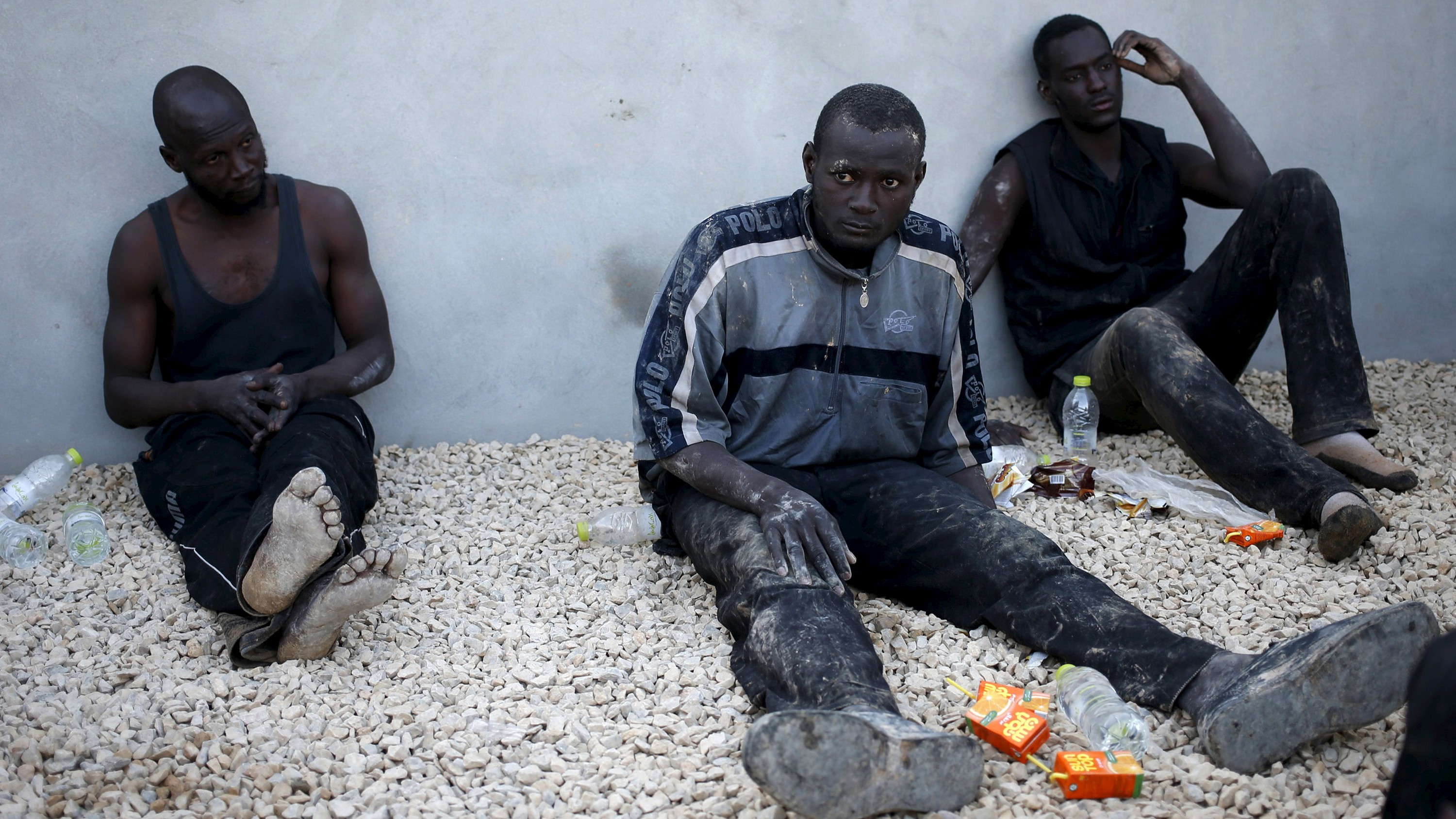 Migrants in Libya, a transit point on the way to Europe.