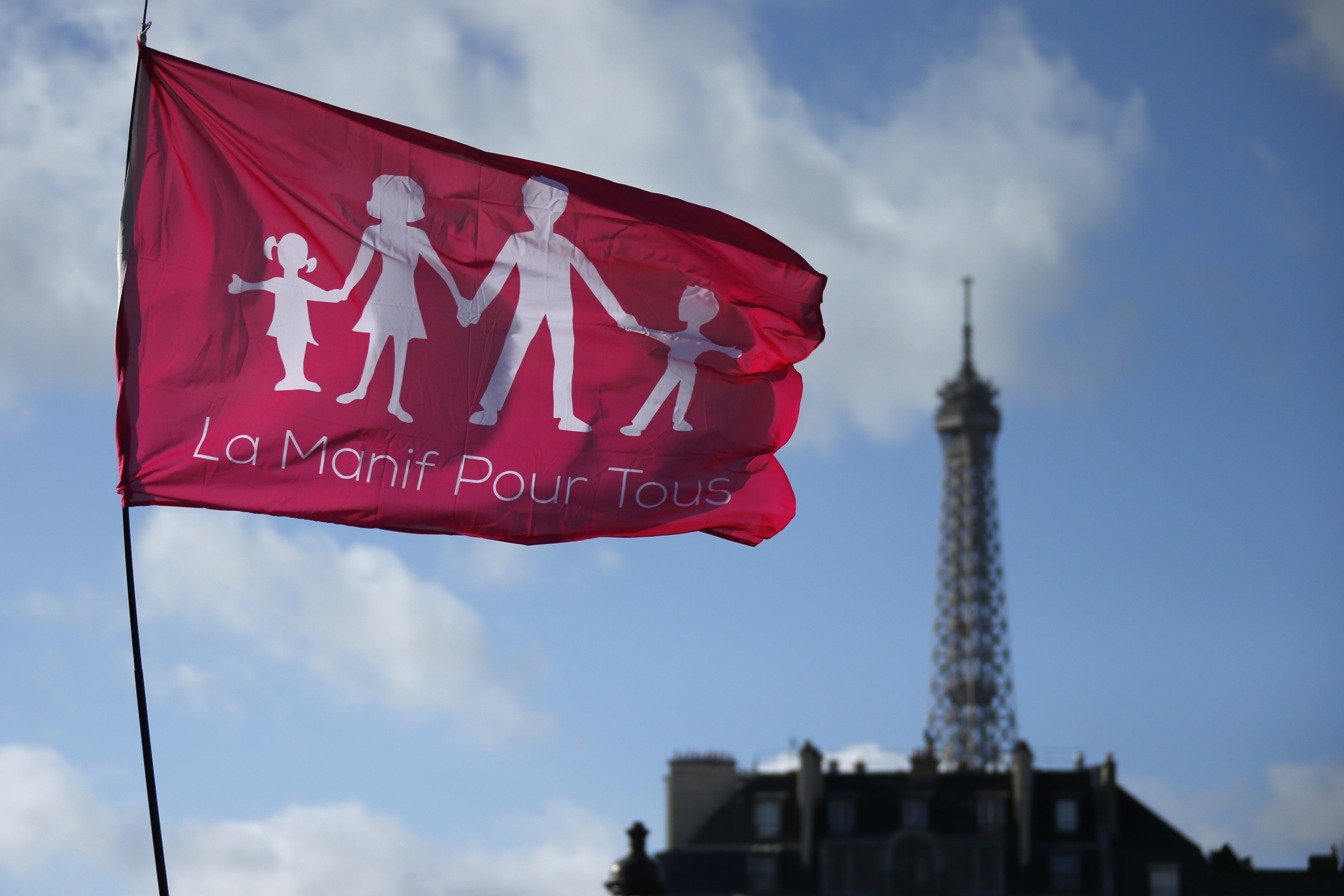La Manif Pour Tous rally against the French same-sex marriage law in Paris
