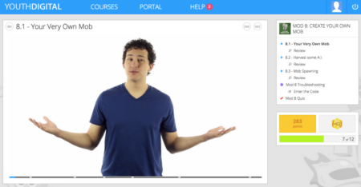 screenshot from youthdigital