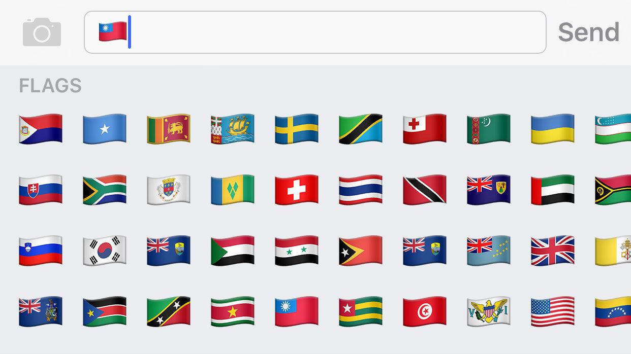 Apple supports the Taiwan flag emoji — Quartz