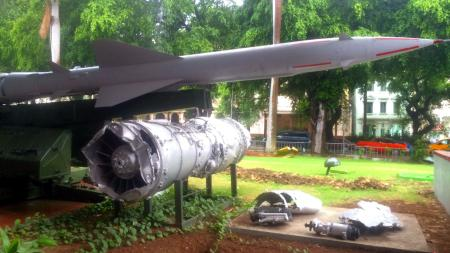 The wreckage of an American U-2 spy plane and a model of the Russian missile that shot it down at Cuba's national museum.