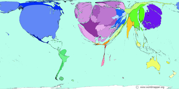 This map of the world\'s scientific research is disturbingly ...