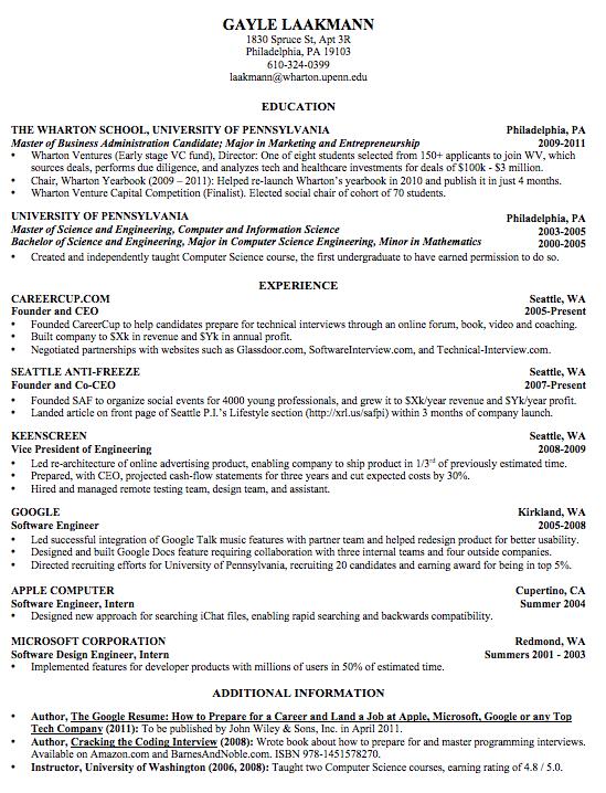 resume  how to format the perfect resume  u2014 quartz