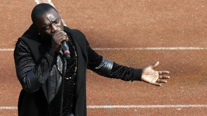 Akon performs at the opening ceremony of the 2015 African Cup of Nations soccer tournament in Bata, Equatorial Guinea.