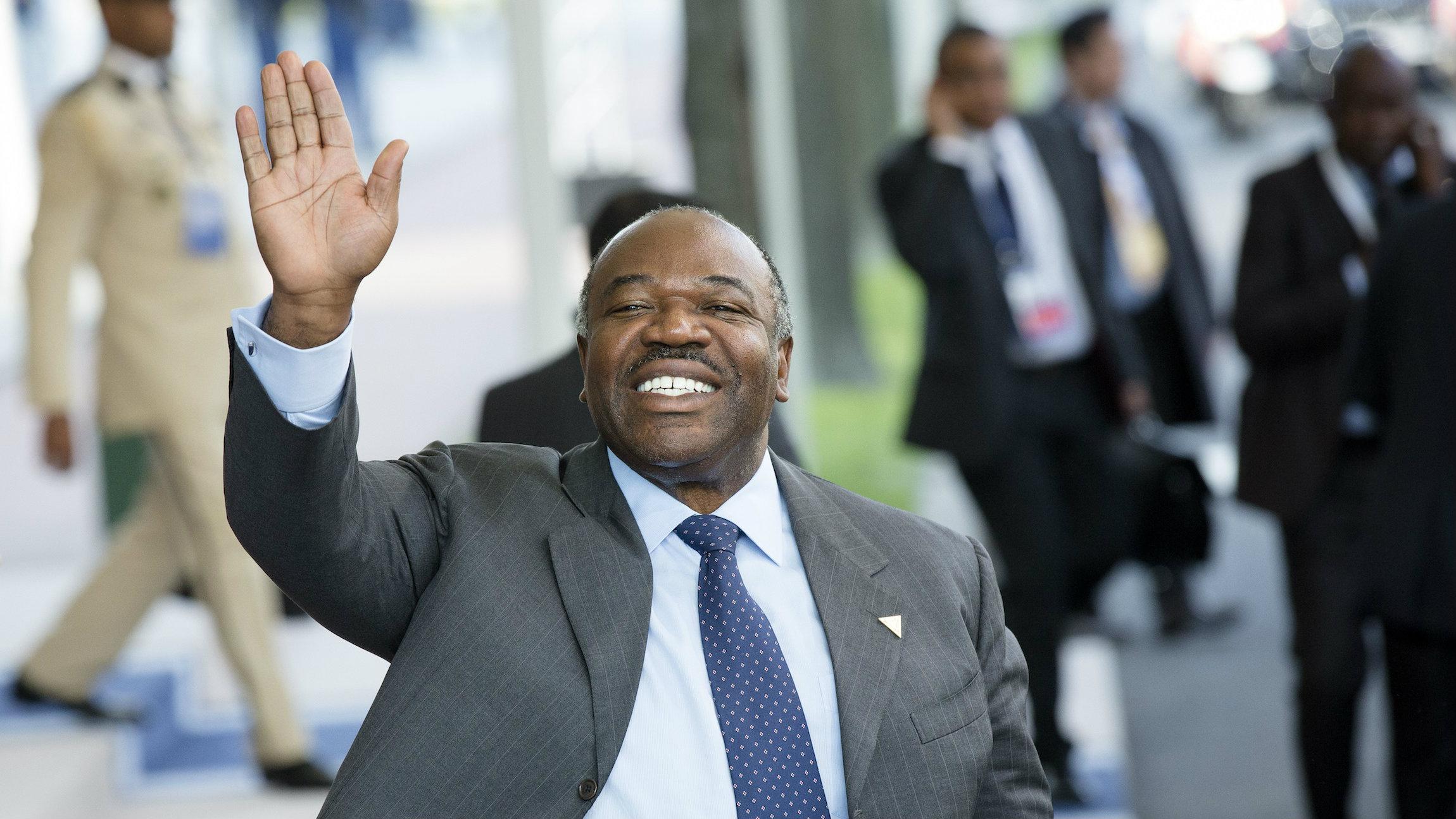 Ali Bongo Ondimba, president of Gabon pledges to give his inheritance to a youth foundation.