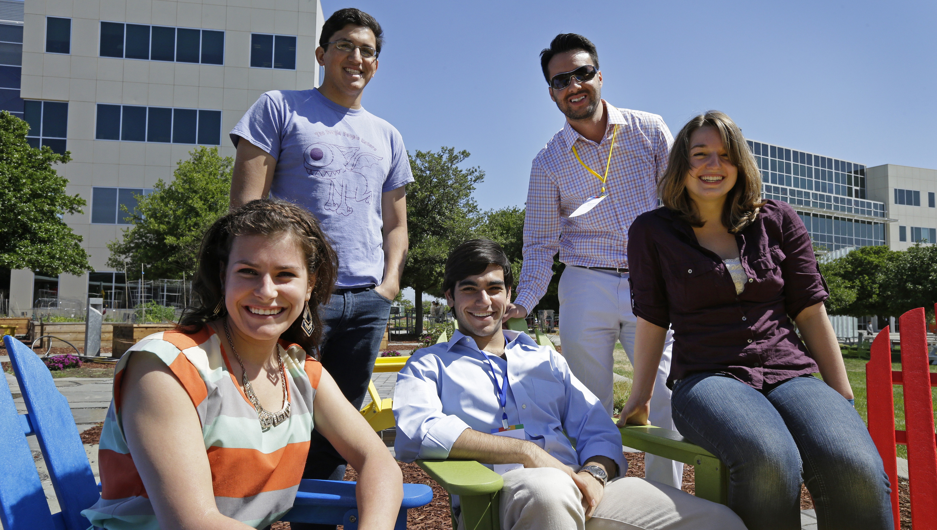 These Google interns may be smiling, but hard work is their reality.