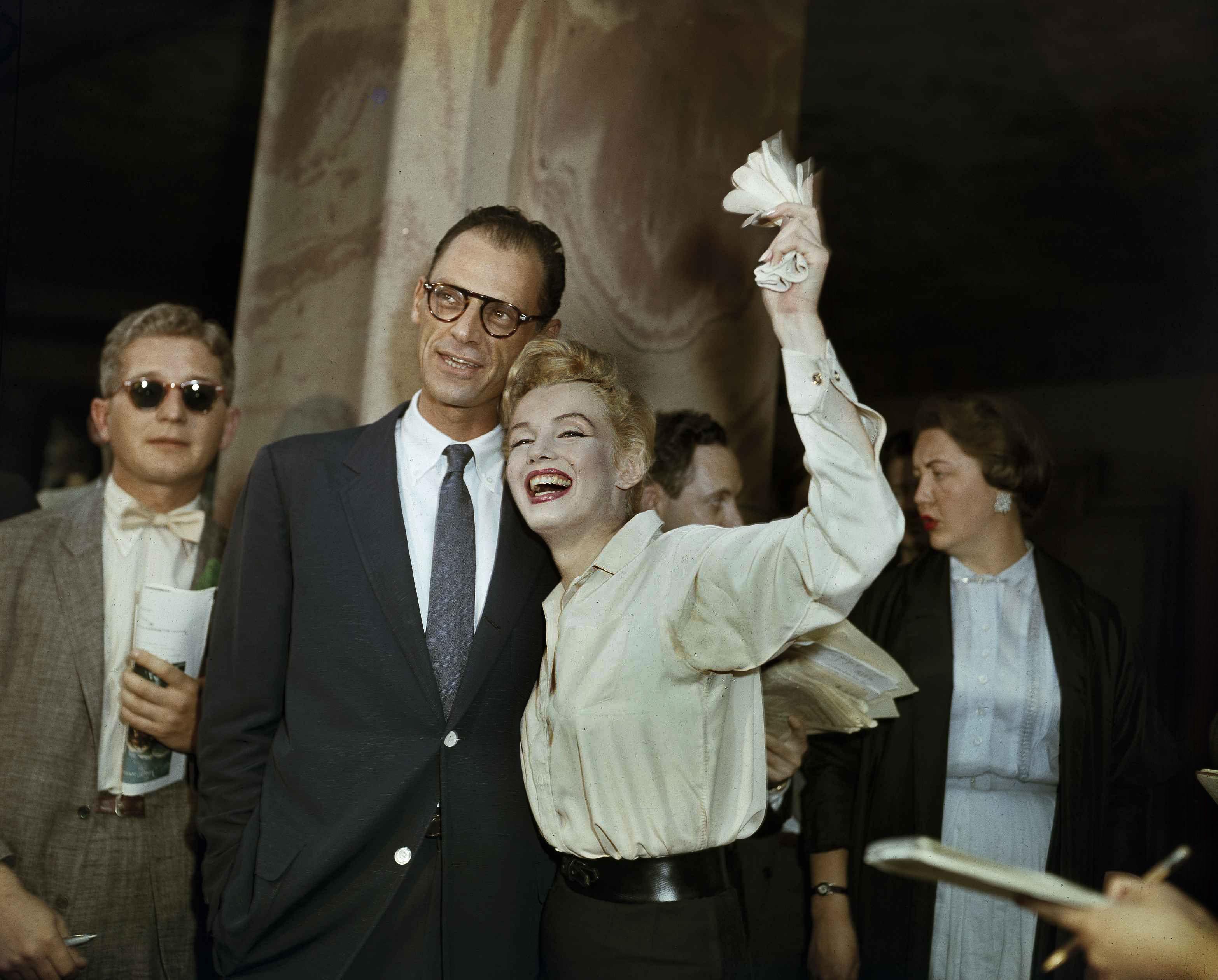Marilyn Monroe and Arthur Miller, 1956.