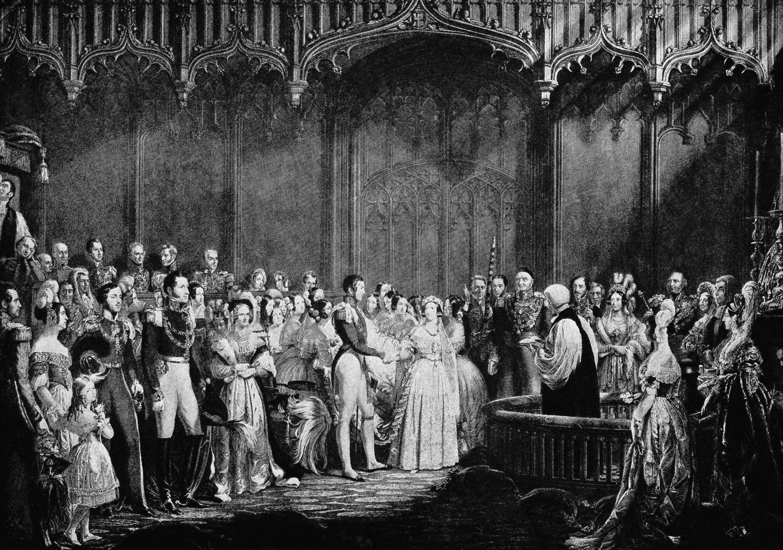 Queen Victoria's wedding of 1840.