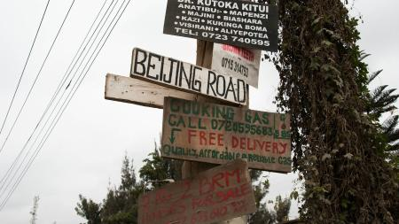 Beijing Road in Nairobi.