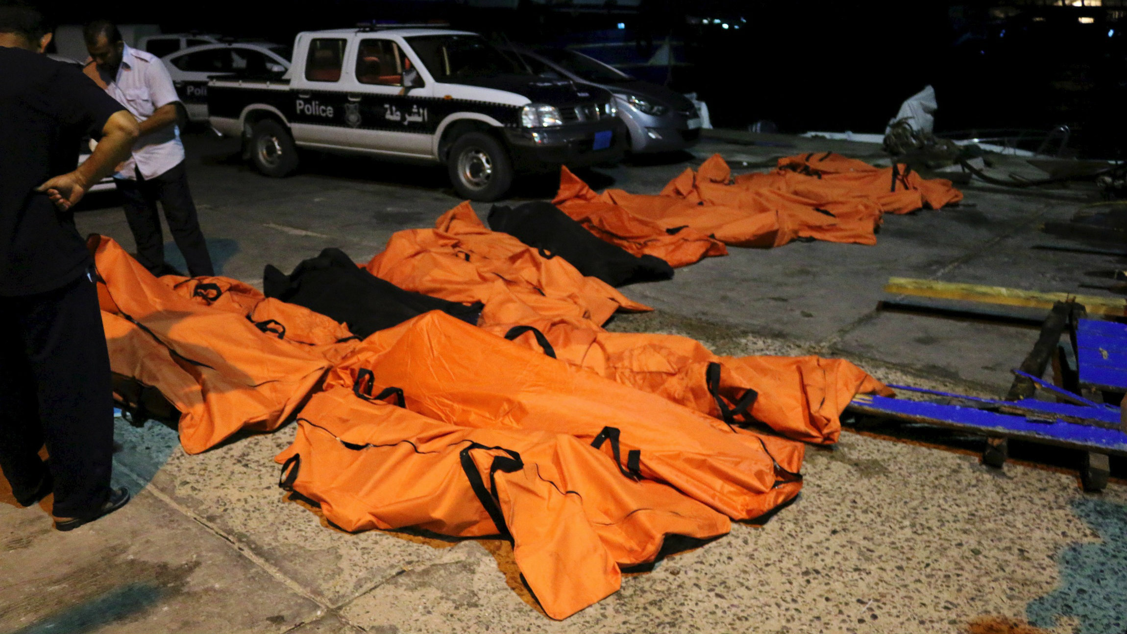 Bodies recovered by the LIbyan coastguard.
