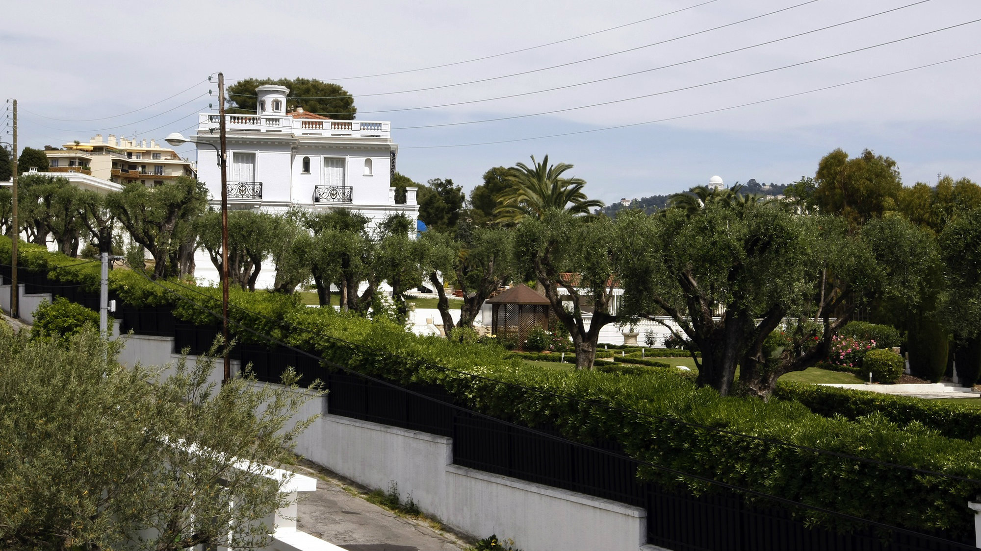 Property in Nice, France registered to former Gabon president Omar Bongo in 2009.