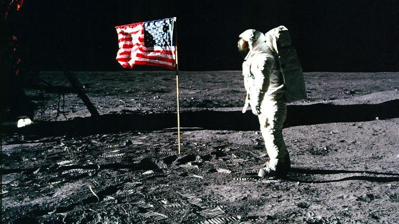 Buzz Aldrin moon