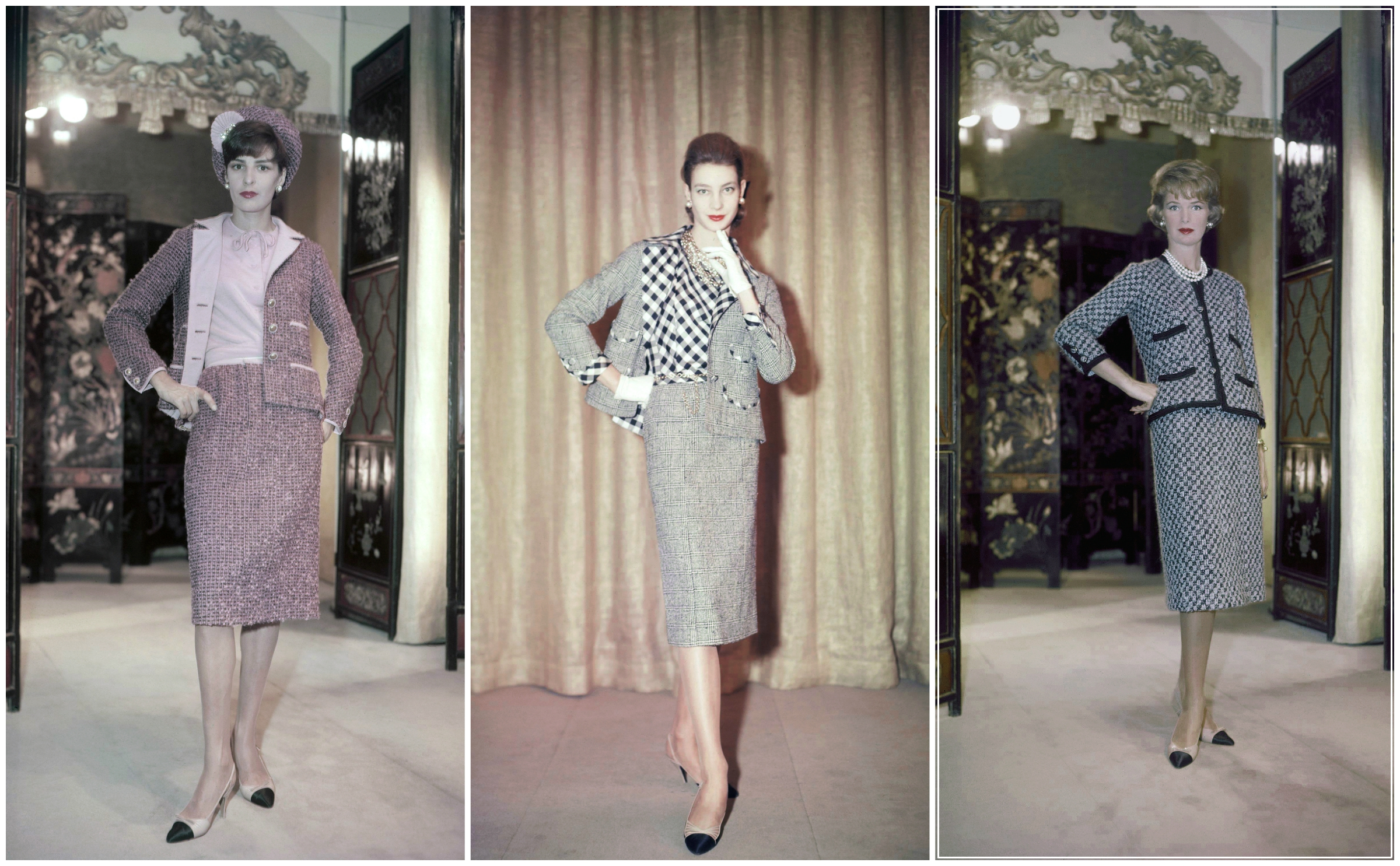 1959: Looks from Chanel's fall-winter collection that year.