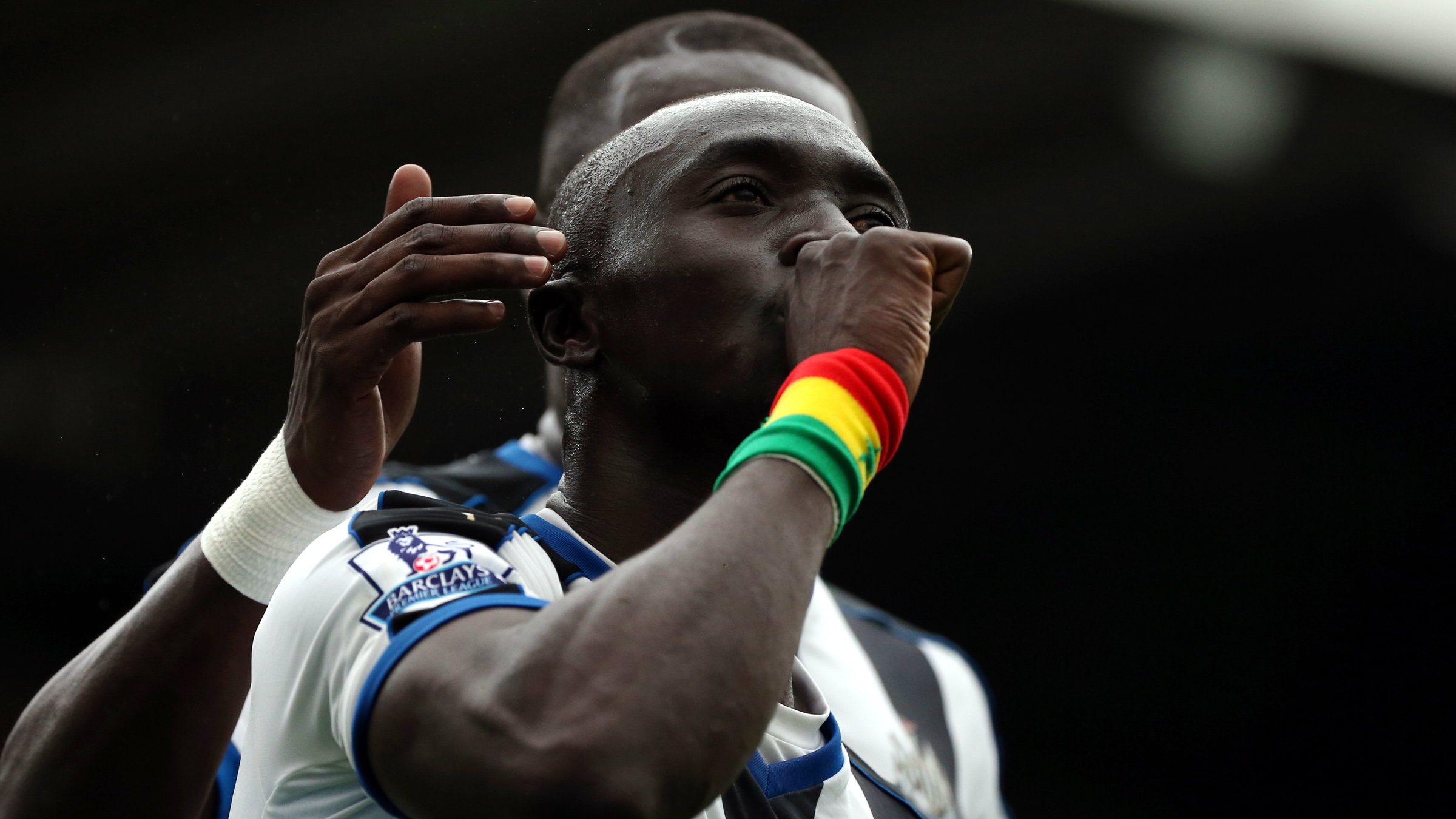 Newcastle United's Papiss Cisse celebrates his goal during their English Premier League soccer match between Newcastle United and Southampton at St James' Park, Newcastle, England, Sunday, Aug. 9, 2015.