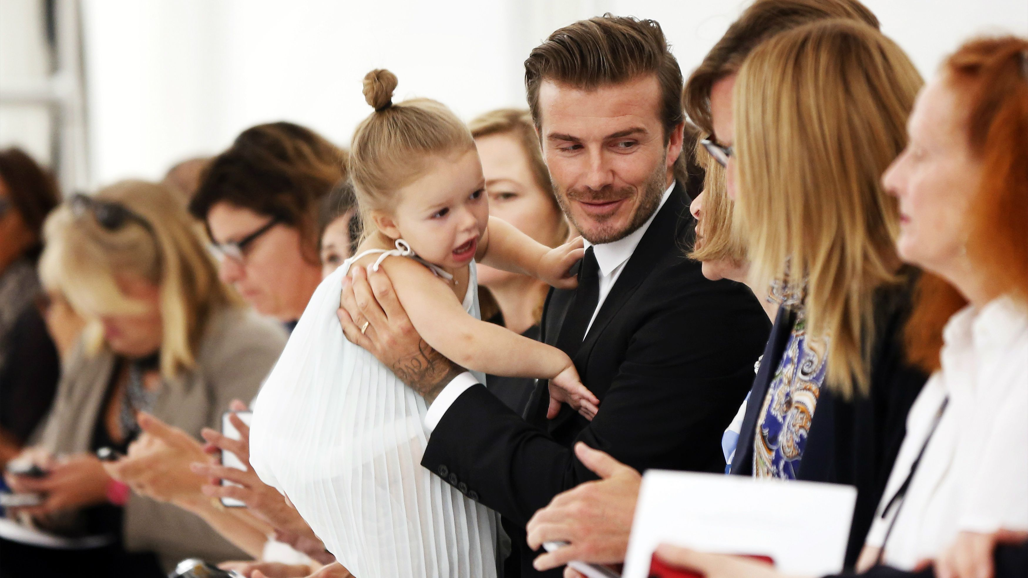David and Harper Beckham, Anna Wintour, dummy,