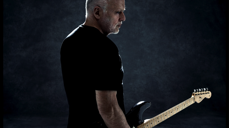 Gilmour and his guitar, opening a new chapter.