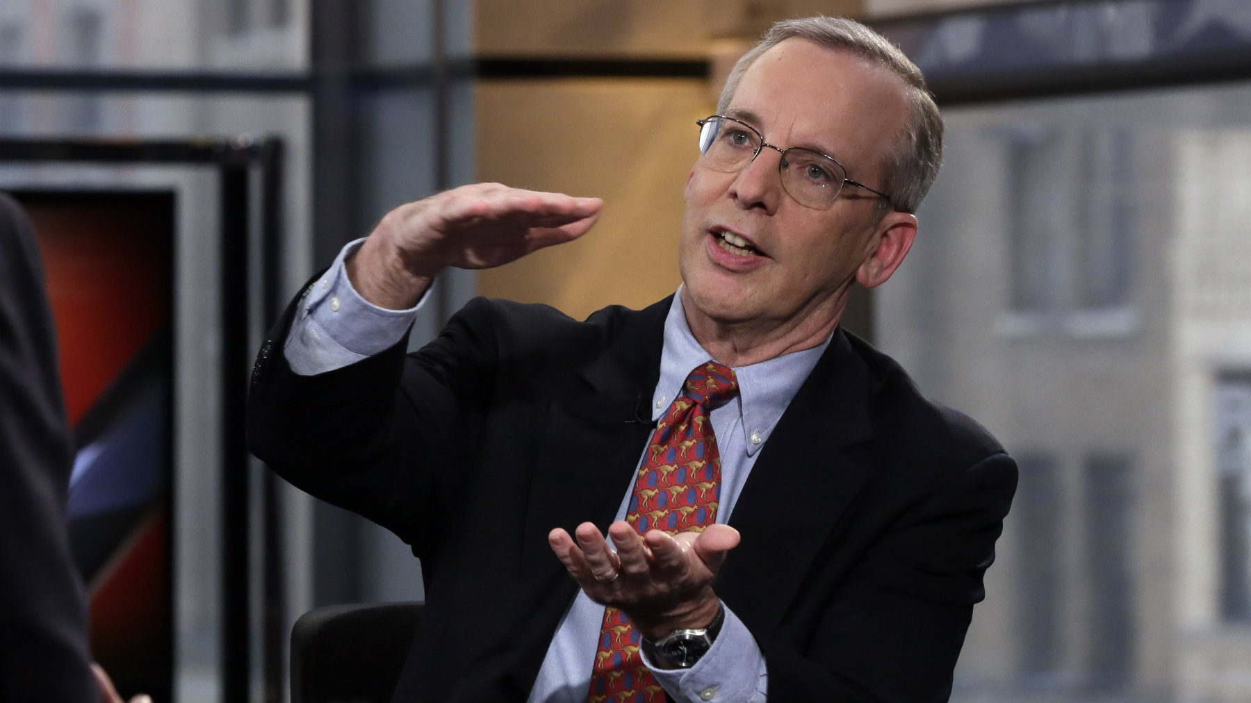New York Federal Reserve President William Dudley pictured during an interview.