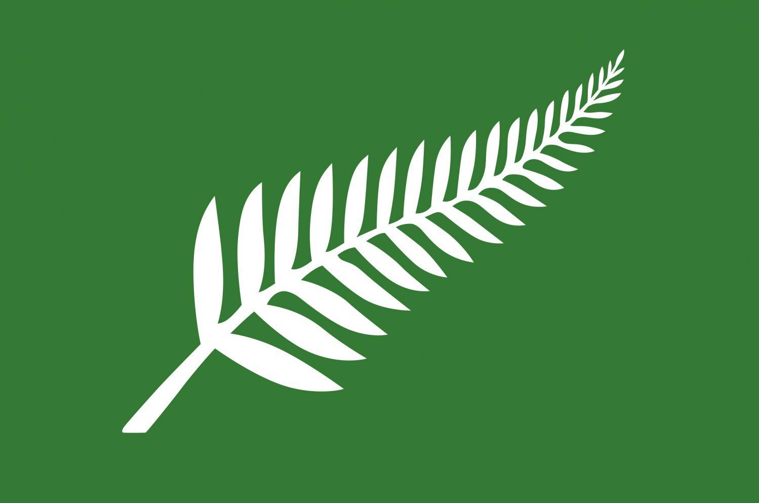 """""""Silver Fern (Green),"""" by Roger Clarke."""