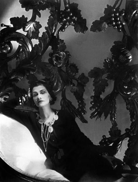 Picture of the famous french high fashion designer Coco Chanel taken in 1944 in Paris.