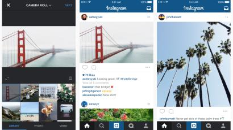 Instagram portrait landscape mode