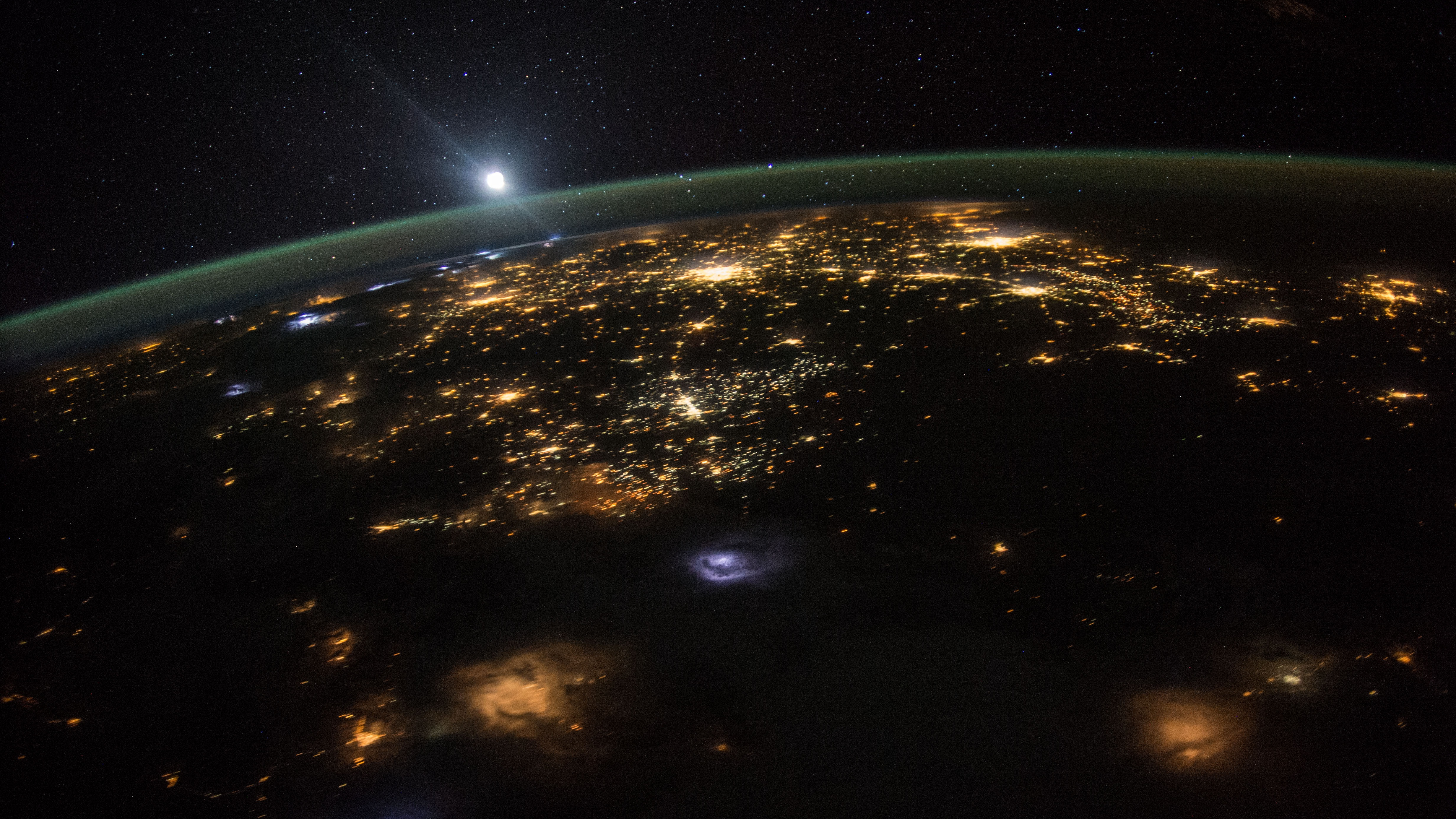 The view from the International Space Station