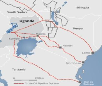 Kenyan and Ugandan officials have agreed on a northern route for the pipeline, through northwestern Kenya to the port of Lamu.