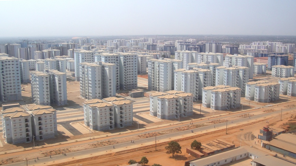 Kilamba New City, developed by Chinese company CITIC, was designed to accommodate 500,000 people and includes 750 eight-story apartment blocks.
