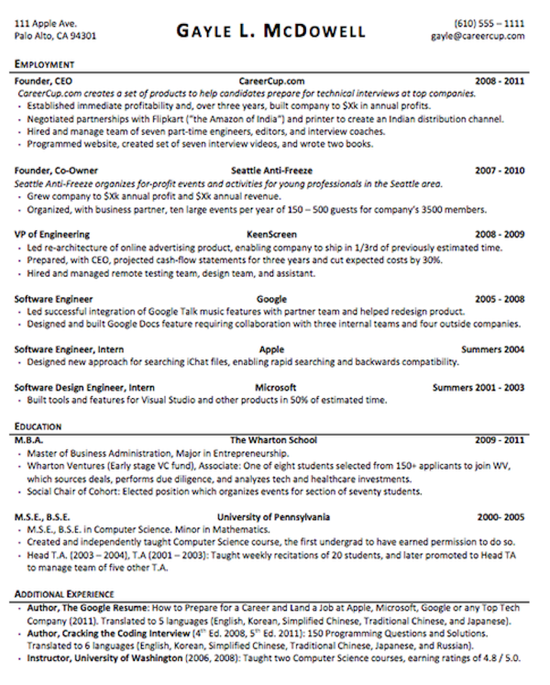 Resume How To Format The Perfect Quartz. This Resume Can Be Downloaded Here. Resume. Wharton Resume At Quickblog.org