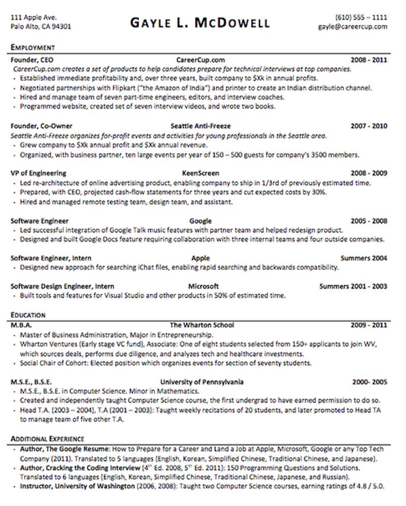 Resume: How to format the perfect resume — Quartz