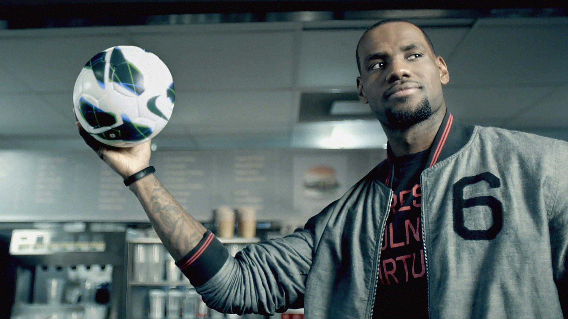 A still from a Nike video about their recycled polyester jerseys