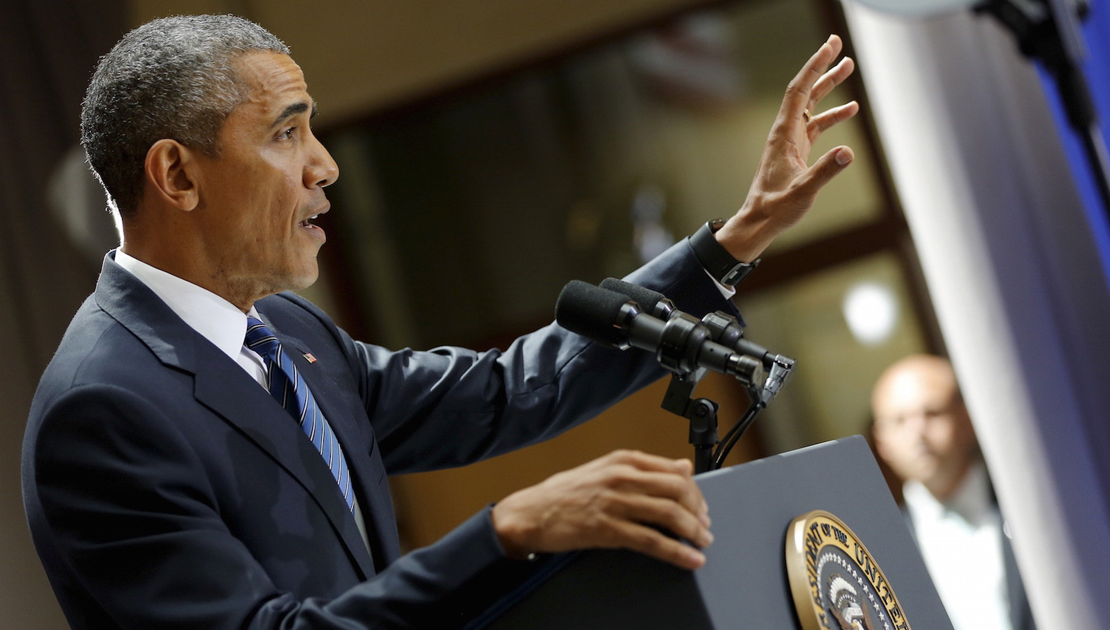 Obama delivers remarks on a nuclear deal with Iran at American University in Washington