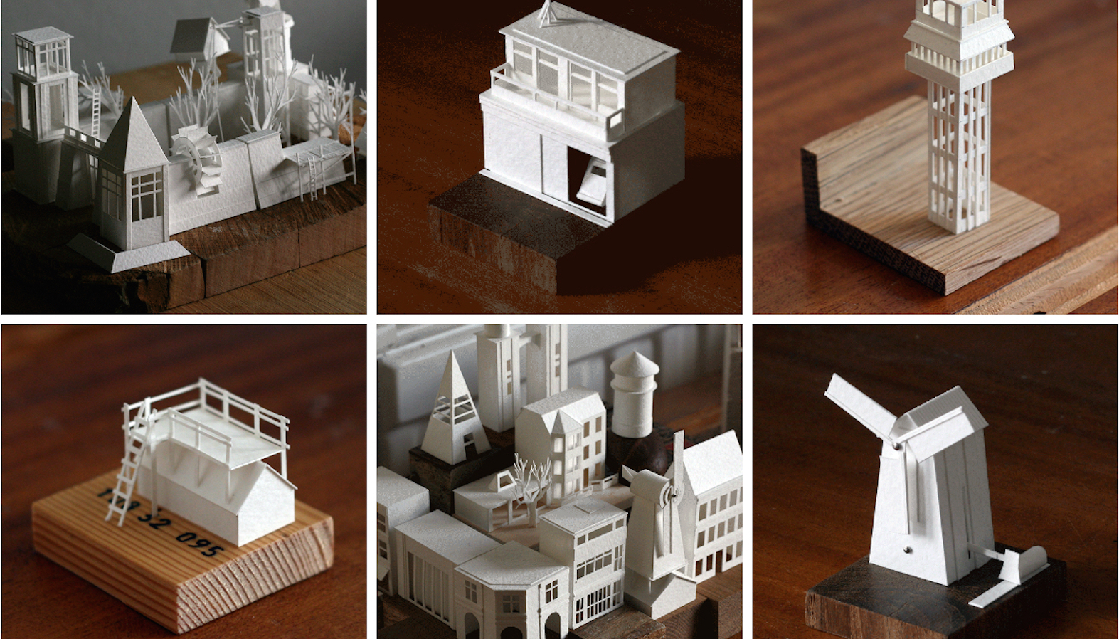 This artist built a tiny city out of 365 paper models, created