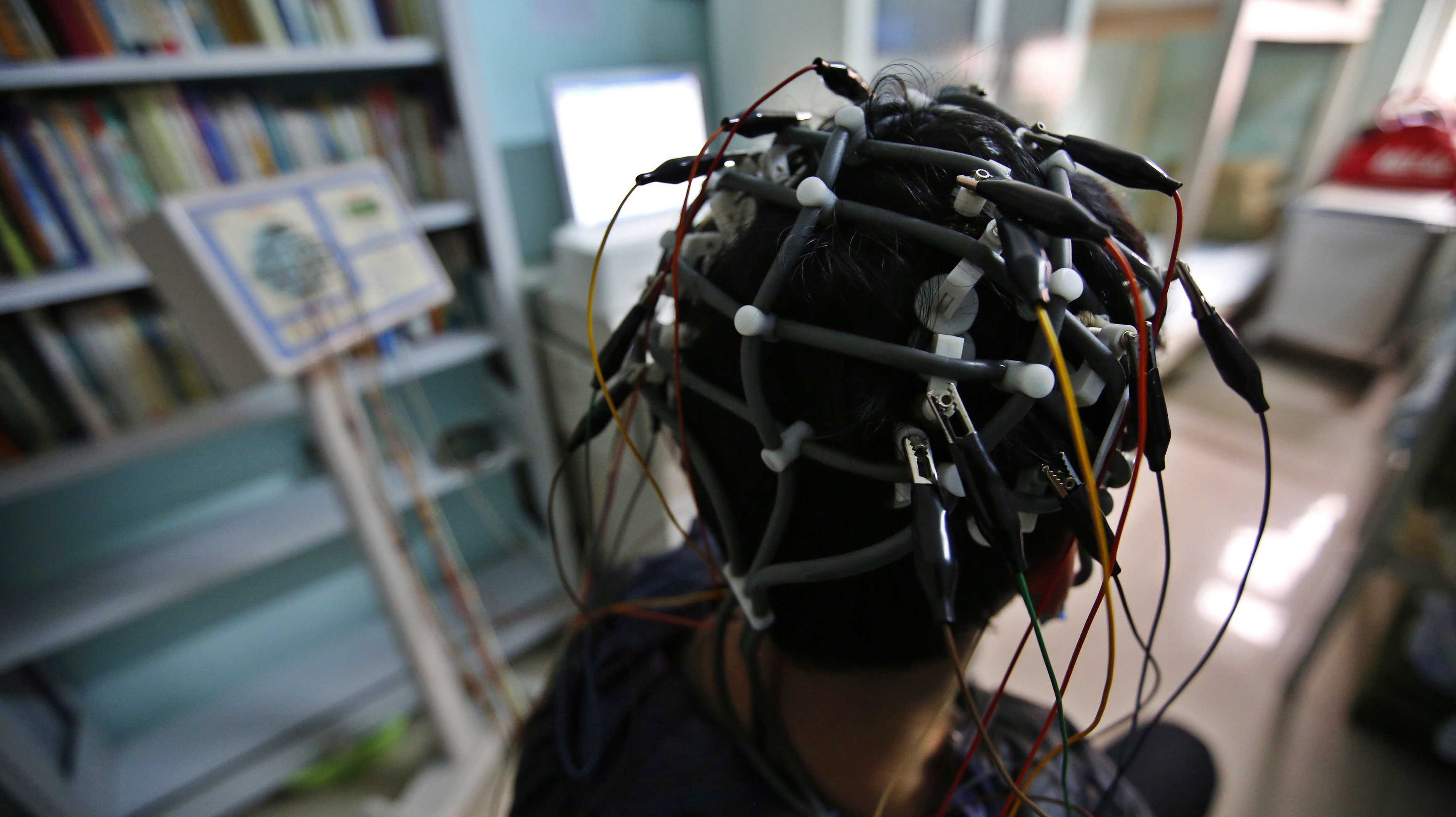 A boy who was addicted to the internet, has his brain scanned for research purposes at Daxing Internet Addiction Treatment Center in Beijing