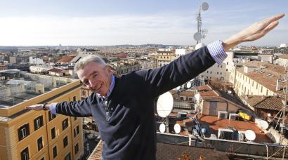 Ryanair CEO Michael O'Leary poses following a news conference in Rome January 27, 2015