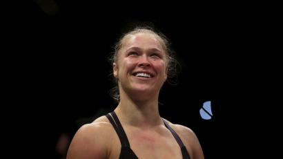 Ronda Rousey of the U.S. smiles after defeating Bethe Correia of Brazil during their Ultimate Fighting Championship (UFC) match, a professional mixed martial arts (MMA) competition in Rio de Janeiro, Brazil August 1, 2015.