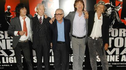 Martin Scorse and The Rolling Stones
