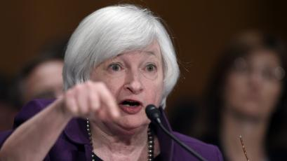 Federal Reserve Chair Janet Yellen testifies before the Senate Banking, Housing, Urban Affairs Committee on Capitol Hill in Washington, DC.