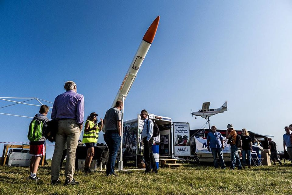 Copenhagen Suborbitals at Roskilde Airshow flight convention.