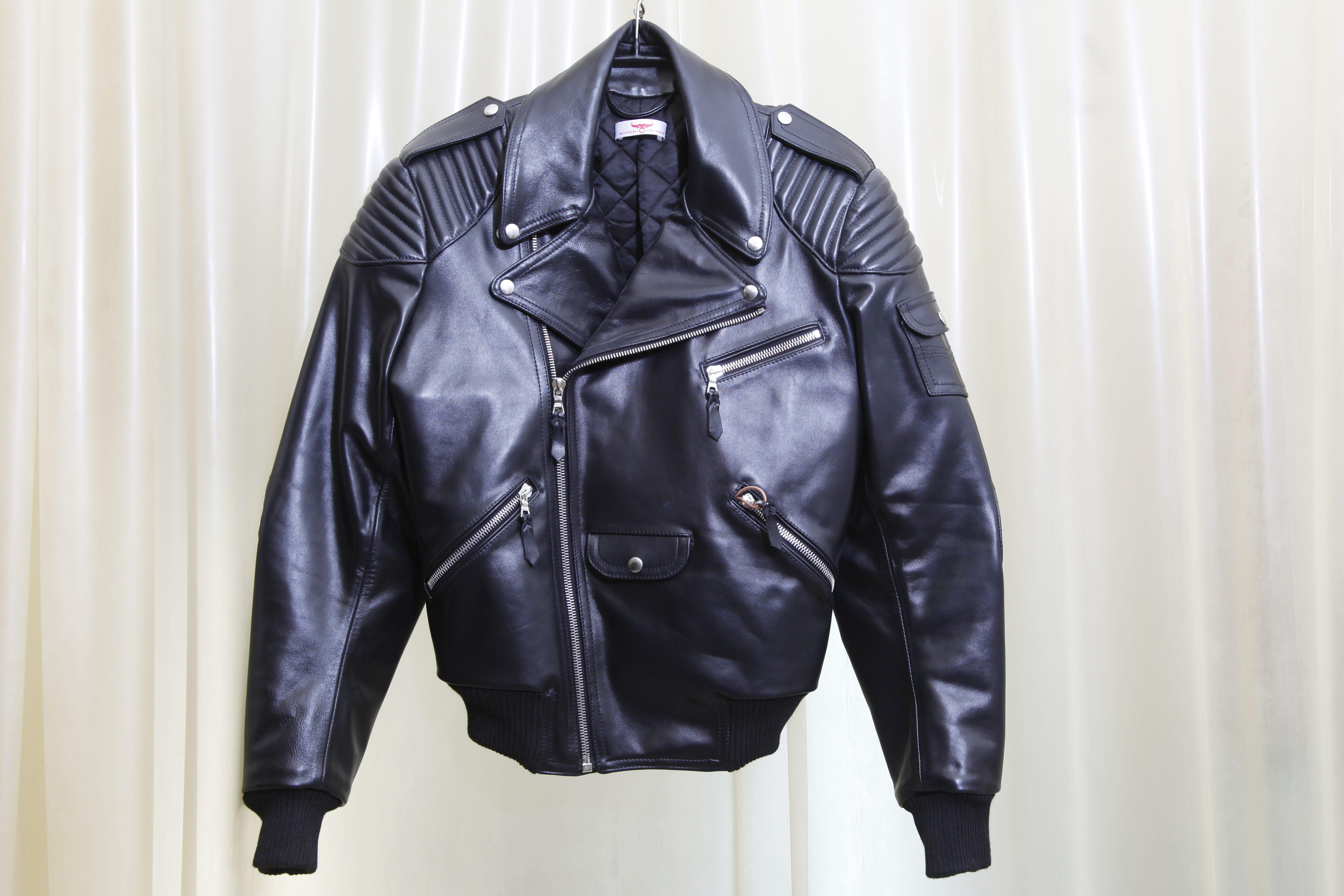 Leather jacket at Butcherei Lindinger