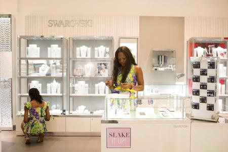 A Swarovski store at the newly expanded Cap Sud shopping mall in Abidjan, Ivory Coast.