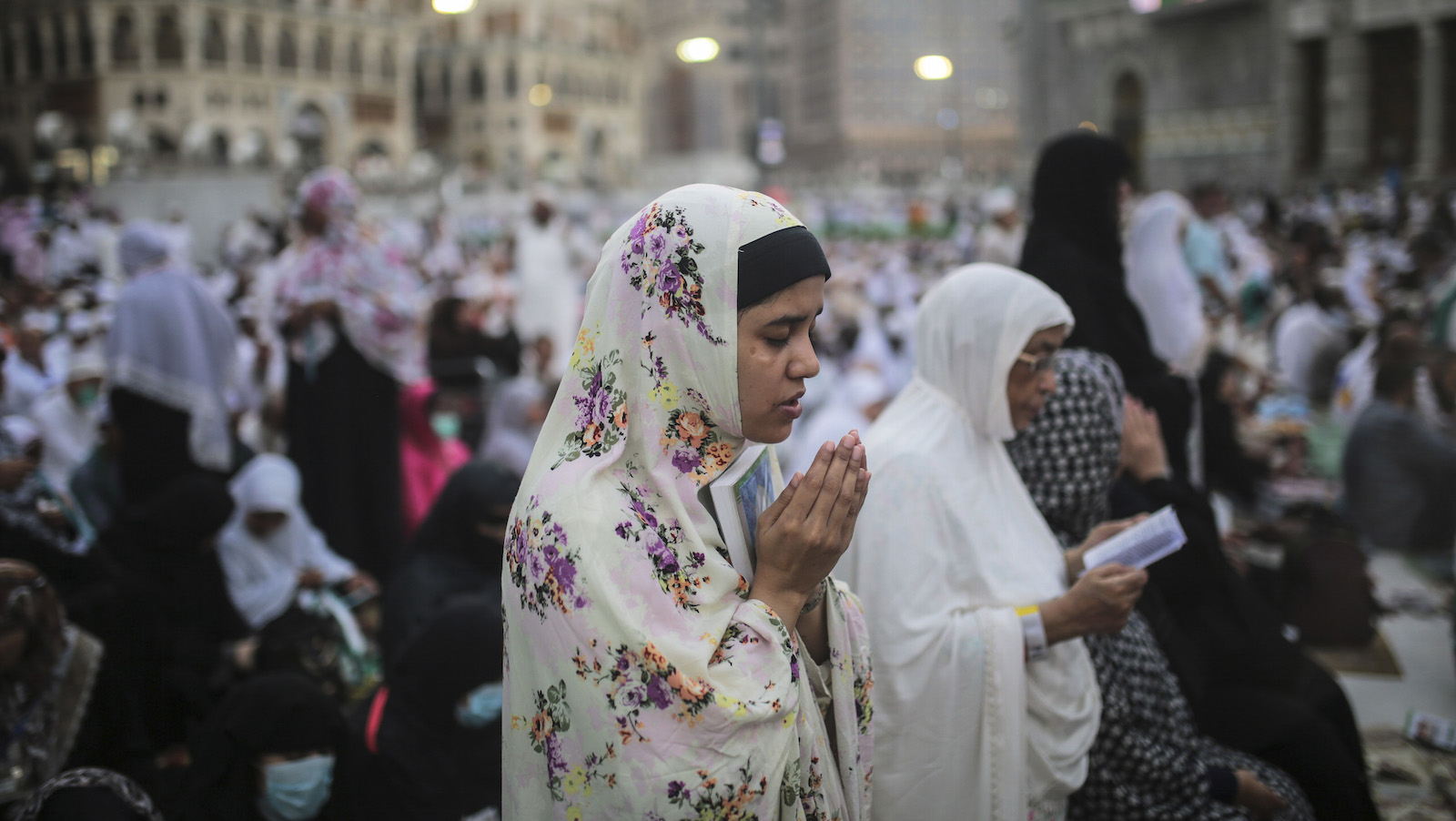 A Muslim Pilgrim prays outside the Grand Mosque in the holy city of Mecca, Saudi Arabia, Sunday, Sept. 20, 2015. Roughly 3 million people from around the world are expected to converge at the Kaaba, in Mina and other nearby areas for the hajj, which lasts about five days. All able-bodied Muslims are required to perform once in their lives.