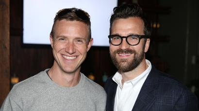 Ian Rogers, who was CEO of Beats, left, and Dan Rookwood, U.S. Editor, MR PORTER, attend Digital Mavericks 2014 hosted by DETAILS and MR PORTER at 41 Ocean Club on Wednesday, April 16, 2014, in Santa Monica, Calif.